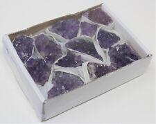 Wholesale Bulk Natural Amethyst Crystal Clusters: 10-17 Piece Lot (Quartz Geode)