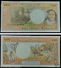 French Pacific Territories 1000 Francs Banknote 1984 UNC