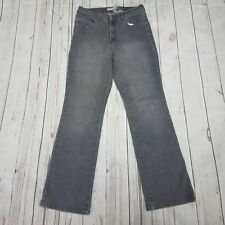 Chicos Platinum Jeans Size 1 Reg Marquis Womens Gray Denim Pants Used Condition