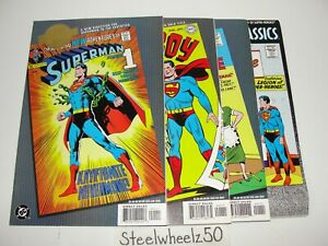 Superman 4 Reprint Comic Lot DC 2000 Millennium Edition 233 Superboy 1 Showcase