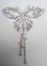 2.60ctw Natürlich Rund Diamant 14k Echt Weißgold Schmetterling Brosche