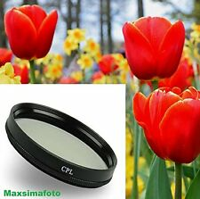 Maxsimafoto - 58mm CPL Filter for Fujifilm HS33EXR HS50EXR Fuji Finepix
