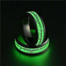 Lord of the Rings Elvish Luminous Glow, Stainless Steel Ring, W/Gift Box!