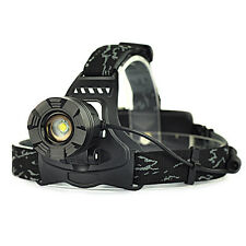 5000LM  XM-L T6 LED Rechargeable Zoomable 18650 Headlamp Head Light Torch Black