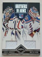 2011-12 Panini Limited Lundqvist/Biron 10/199 Double Jersey Card