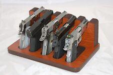 Pistol 5 Gun Rack Stand 505 Mahogany Brown Cabinet Safe