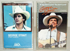 GEORGE STRAIT Lot of 2 Cassette Tapes, Strait Country & If You Ain't Lovin'....