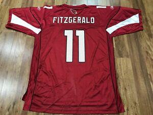 MENS LARGE - Vtg NFL Arizona Cardinals #7 Larry Fitzgerald Reebok Printed Jersey