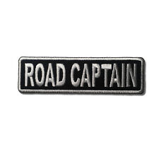 Embroidered Road Captain White on Black Sew or Iron on Patch Biker Patch
