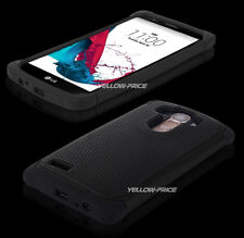Armor Hard Rubber Shockproof Hybrid Impact Case Cover Dual Layers for LG G4 2015