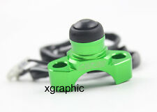 Green CNC Billet Universal Stop Kill Switch Button Pit Dirt Bike ATV Quad KLX KX