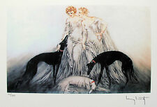 "LOUIS ICART ""COURSING III"" Signed Limited Edition Small Giclee Art"