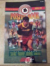 SCORE 1992-93 CALCIO Serie A giant 11x17 Poster Book = AS ROMA calciatori ITALIA