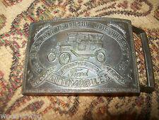 Henry Ford Detroit Automobiles Auto Belt Buckle Vintage Free USA Ship