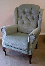 Queen Anne  high seat chair chair,  choice of sizes & colour. Coil sprung seat.