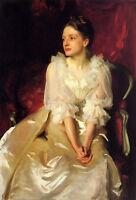 Art Oil painting John Singer Sargent - Female portrait Miss Helen Duinham canvas
