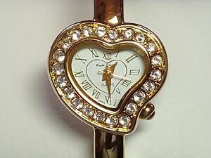 Paula Frauchi - Ladies Bangle Watch - Heart Shape - New Battery (JC308)