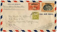 PHILIPPINES CLIPPER 1937 AIRMAIL to USA SANTA MONICA
