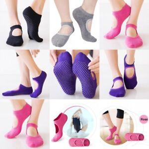 Women's Non slip Yoga Pilates Grip Sock Cotton Backless Socks