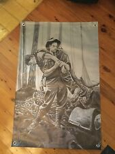 Australian army 3 x 2 foot mn cave art print Kokoda trail World War Two. WW2