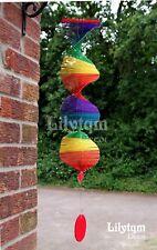 BAMBOO Rainbow Wind Chime Garden Spinner Mobile Casa Party Decorazione Pride