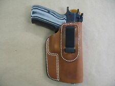Cz75, 75B, 85, 85B, Cz 75 Iwb Leather In Waistband Concealed Carry Holster Tan