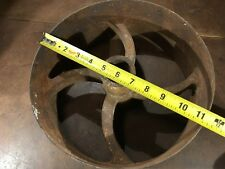 "Cast Iron, curved spoke Flat Belt Pulley 11 3/8 x 4 3/4 with 1 1/2"" center hole"