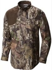 NWT Mens Columbia L/S Mossy Oak Hunting Stealth Shot Button Down Shirt Sz Large
