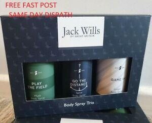 Jack Wills Men Body Spray Trio Gift Set For Him 2021 New Boxed - FAST DISPATCH