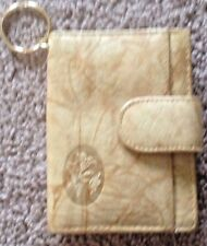 Buxton Heiress Pik-me-up Tab Card Case - Sand lkn euc