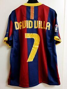 Maglia Shirt Camiseta Calcio Football Barcelona Barcellona 2010/11 David Vila M