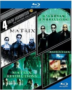 The MATRIX COLLECTION 4 FILM Animatrix BLU RAY  Region B (AUS) New & Sealed