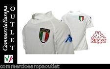 T-SHIRT BAMBINO MONDIALI CALCIO ITALIA NAZIONALE KAPPA 3 STELLE MAGLIA BIANCA