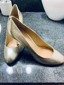"New Michael Kors Heels Traditional Women's Gold Pumps 3.5"" Size 10 M"