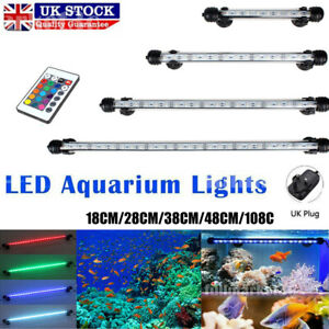 18-108cm Aquarium Fish Tank Air Bubble Light RGB SMD LED Lamp Lighting+Remote