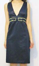 #savingglory RED VALENTINO Silk Plunge Dress Embellished Bow Au 16 US 12 IT 48