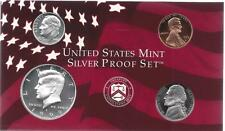 1999-S PARTIAL SILVER PROOF SET CENT, NICKEL, DIME,  AND HALF  4 COINS