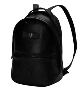 Puma Ferrari Lifestyle Zainetto Small Women's Backpack Black Brand NEW 075867-01