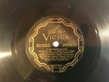 78 RPM  VICTOR 25354 JEAN GOLDKETTE W/ BIX BEIDERBECKE (SLOW RIVER /I'M GONNA ME