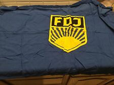 "East German Cloth FDJ Flag - Free German Youth - 30"" x 45"