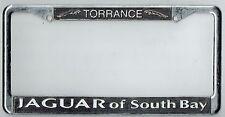 RARE Torrance California Jaguar of South Bay Vintage Dealer License Plate Frame