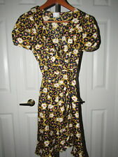 Hi There Karen Walker Anthropologie Golden Apple Faux Wrap Dress 2 XS