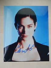 """Carrie-Anne Moss Autographed 8"""" X 10"""" Photograph"""