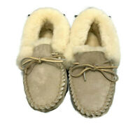 LL Bean Shearling Lined Slippers Wicked Good Moccasins Women's Size 11