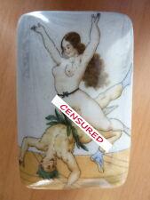 BOITE PORCELAINE STYLE ART DECO EROTIQUE LIBERTINE PETER FENDI 914-1B