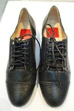 ZOE KRATZMANN BLACK PERFORATED LEATHER LACE UP SHOES,BROGUES,LOAFERS,36,AU6,$239