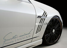Sports mind Powered by JAGUAR X S Tipe Racing Decal sticker SILVER Pair