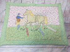 SHABBY COTTAGE HORSE PILLOW SHAM THE COMPANY STORE PINK YELLOW PARIS CHIC