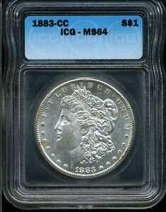 1883-CC $1 Morgan Silver Dollar MS64 ICG 71901