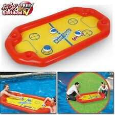 Inflatable Pool Floats Hockey Toy Kids Summer Water Fun Raft Party Game Swimming